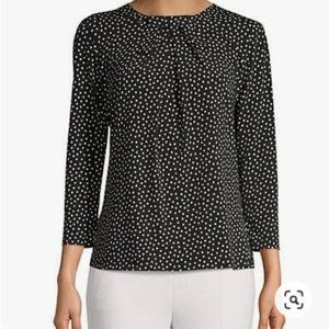 Karl Lagerfeld Paris Polka Dot top with bow small